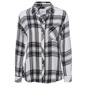 "RAILS graphite and white plaid ""Hunter"" top"